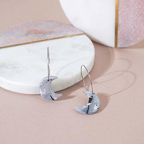 Dusty-Rose moon earrings jewellery photo