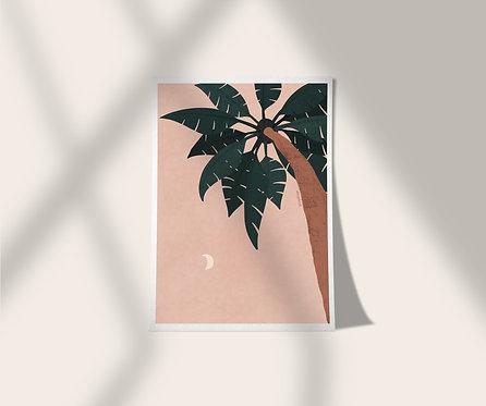 Miami South Beach Palm Tree A5 Print Poster Lugi Design