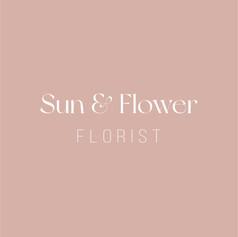 Sun & Flower premade logo_Sun & Flower p