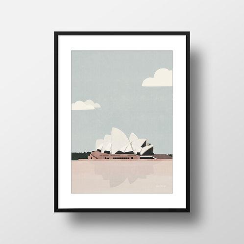 Sydney Opera House Print Lugi Design Framed