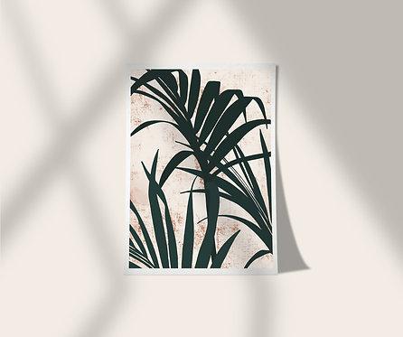 Palm Poster Print A5