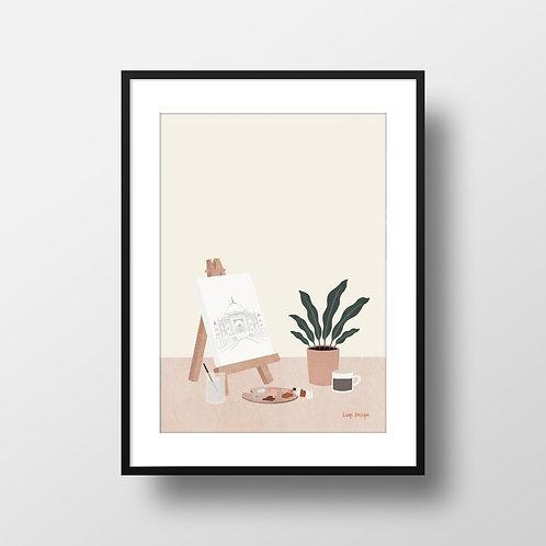 Art Homework Print Lugi Design Framed