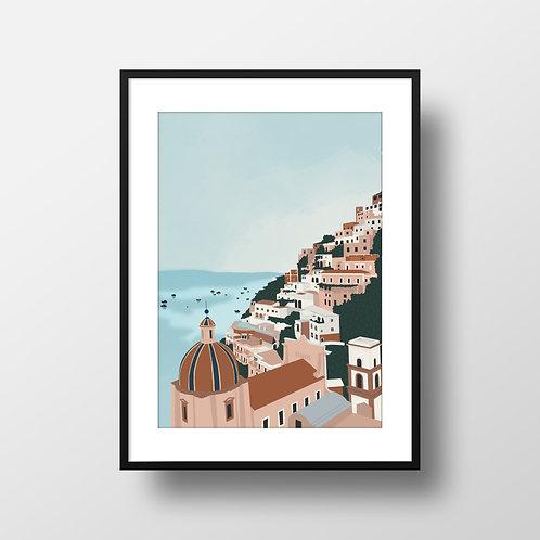 Amalfi Coast Framed Print Lugi Design