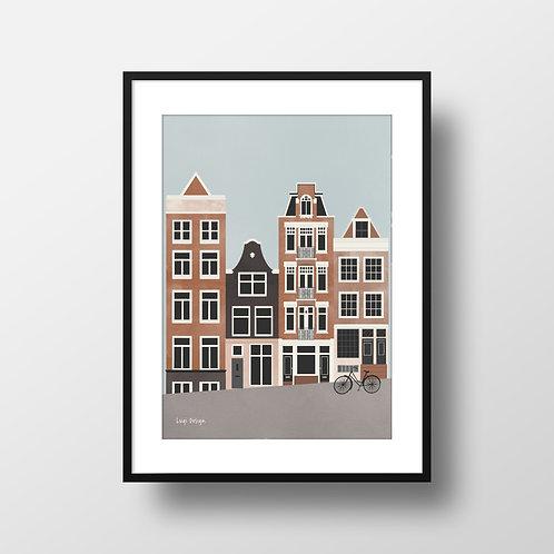 Amsterdam Daytime Print Frame Lugi Design