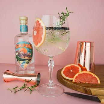juniper gin product photogrphy bottle an