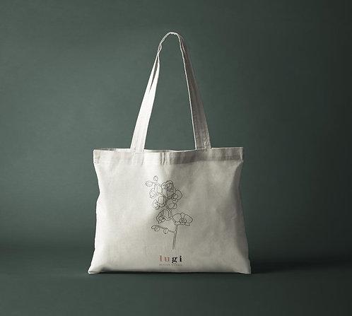 Orchid Flower Design Canvas Tote Bag 10oz