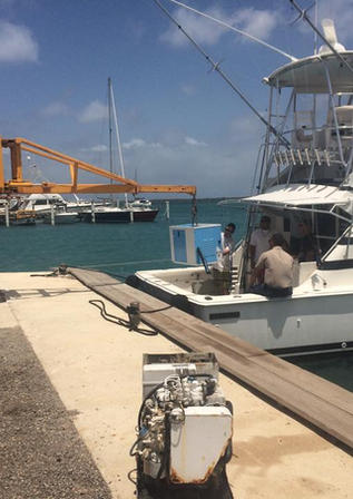 Aruba boatyard - engine work