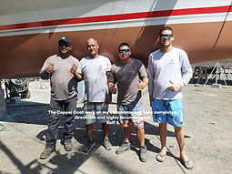 Aruba Boatyard dedicated team