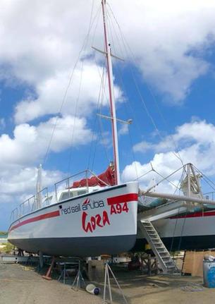 Aruba boatyard work in progress