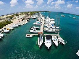 Aerial view Marina Aruba