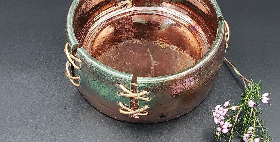 Stitched Raku TZ bowl