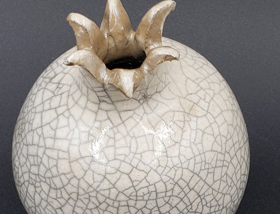 Pomegranate White Raku