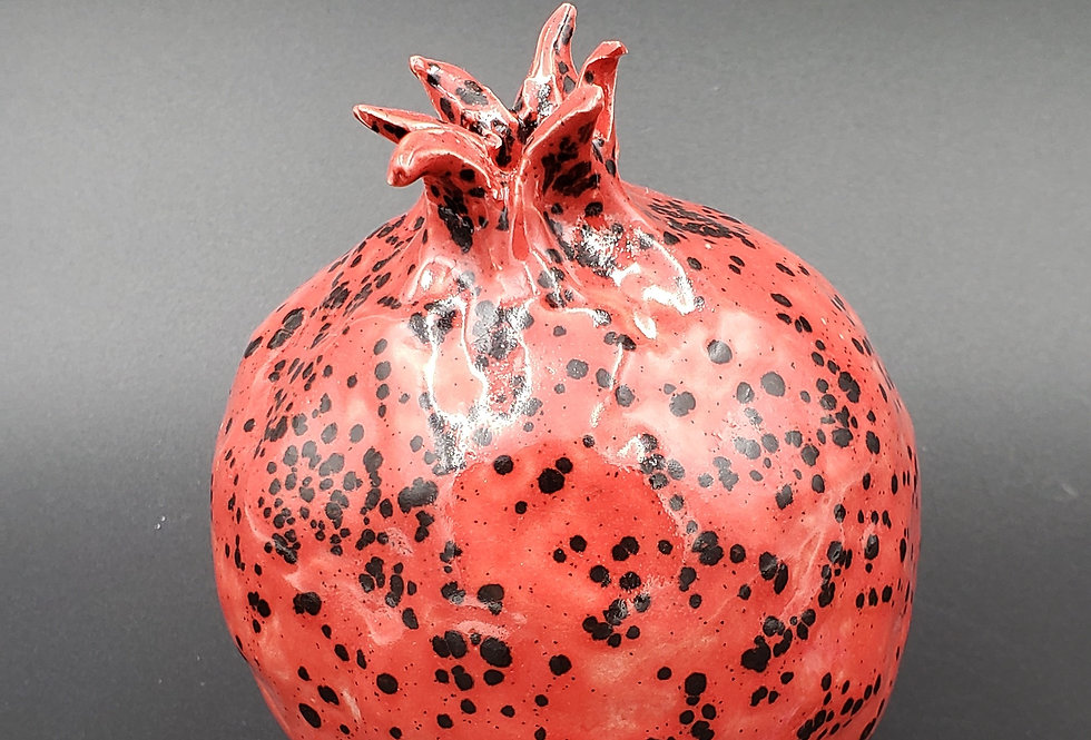 Pomegranate red speckle glaze