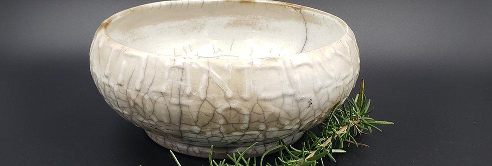 Judaic Blessing for the Home bowl /Raku