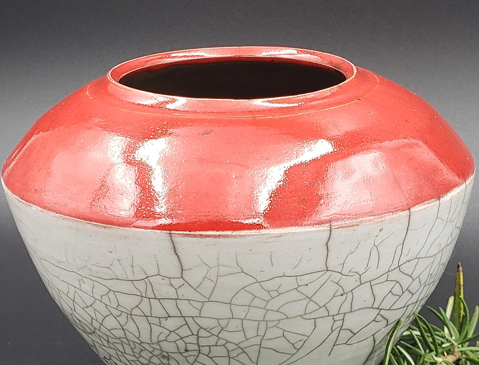Ox Rex & White Crackle Vessel
