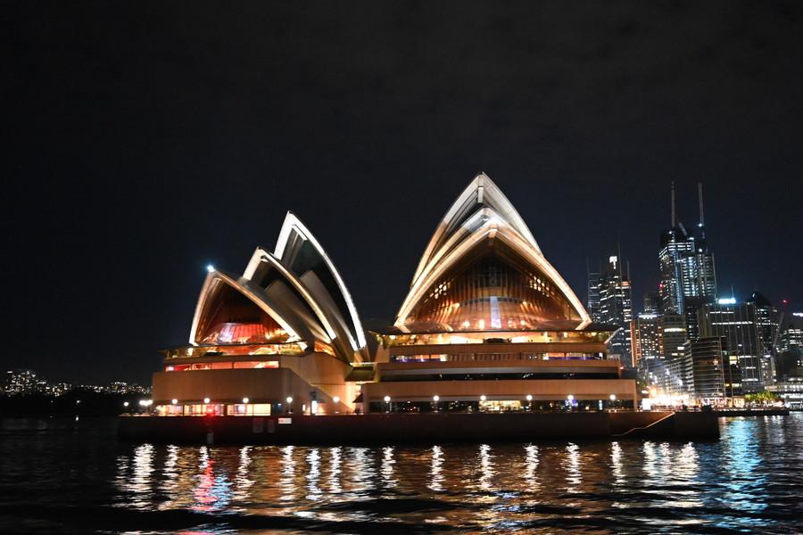 The Opera House at night