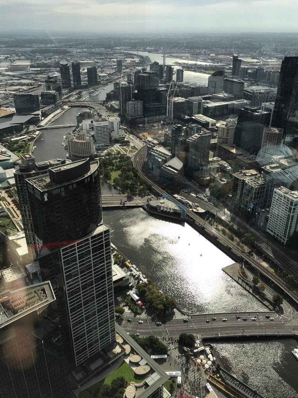 Melbourne with the Yarra river