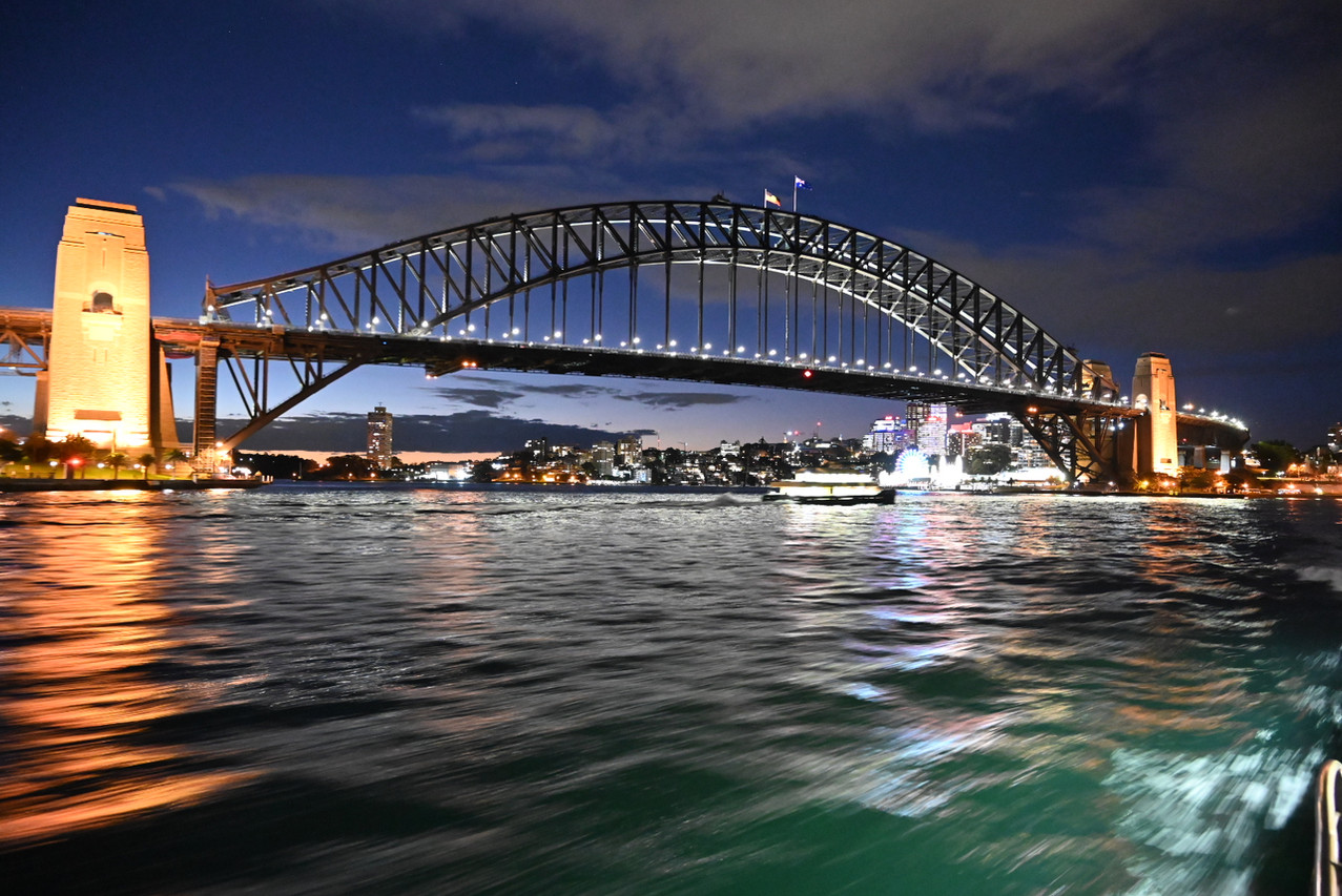 The Harbour bridge at night