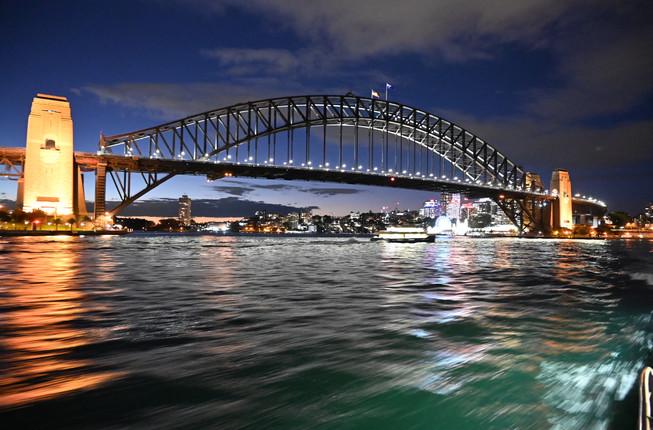 The Harbour bridge at night