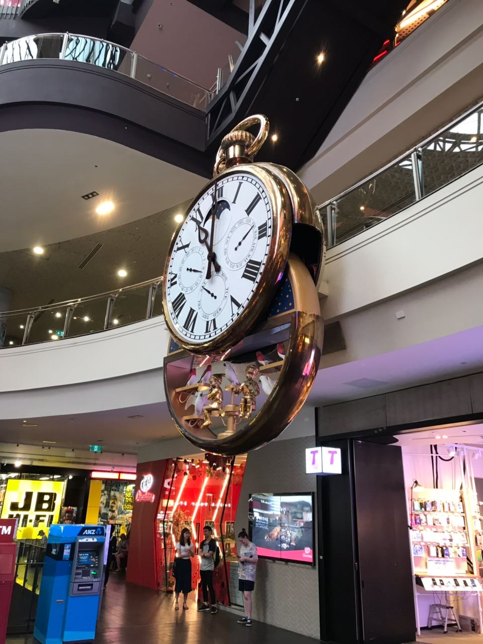 The famous clock in Melbourne Central