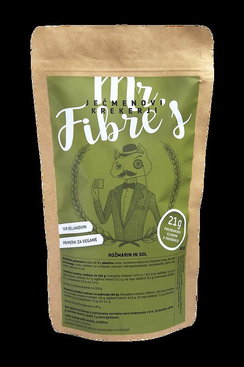 Mr. Fibre's ječmenovi krekerji - ROŽMARIN