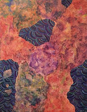 Internal Landscape Series 51, 116.8cm x 91cm, Acrylic on Canvas, 2017