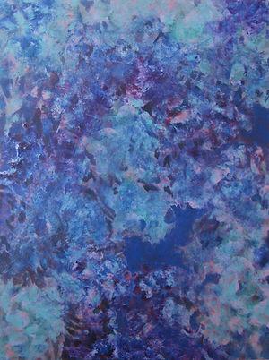 Internal Blue 2, 100cm x 76cm, Acrylic on Canvas, 2015