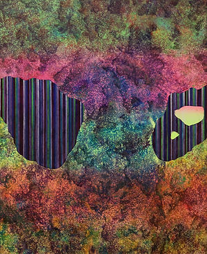 Internal Landscape Series 57, 65cm x 53cm, Acrylic on Canvas, 2017