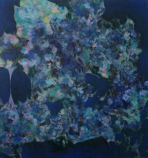 Internal Blue 3, 91cm x 86cm, Acrylic on Canvas, 2015
