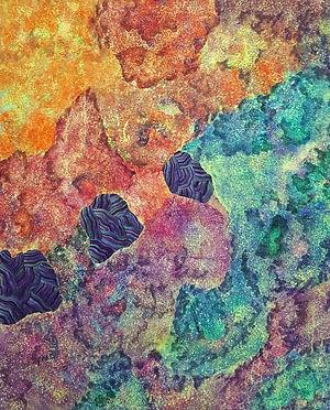 Internal Landscape Series 49, 116.8cm x 91cm, Acrylic on Canvas, 2017