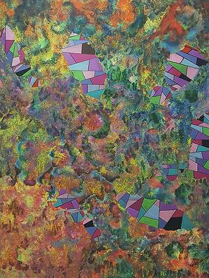 Internal Landscape Series 42, 130cm x 96cm, Acrylic on Canvas, 2017