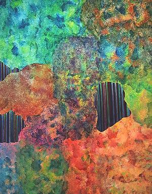 Internal Landscape Series 56, 116.8cm x 91cm, Acrylic on Canvas, 2017