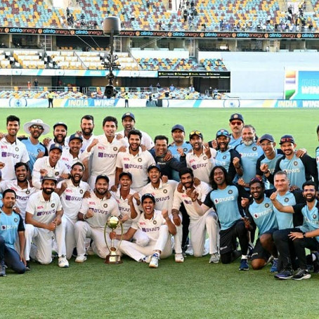India hoists the victory flag at Gabba | by om mishra