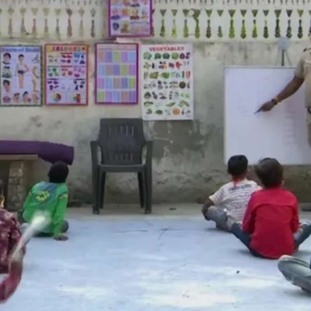 A Cop from Delhi turned into a teacher to help underprivileged children | by ANTRA