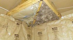 Foil Insulation on Knee Walls & Batt R30 on Ceiling