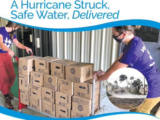 Safe Water Boxes provide Hurricane Laura relief