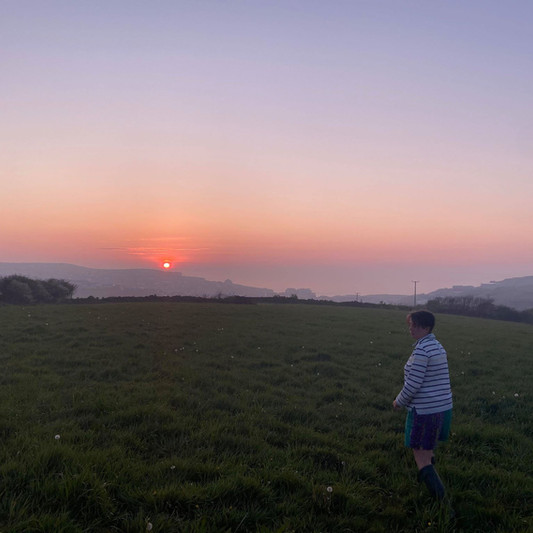 An evening jaunt to enjoy the sunset. Shepherds delight!