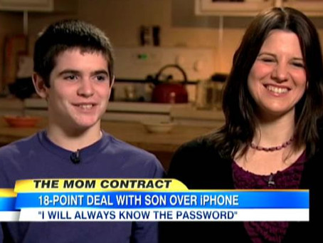 "The iPhone ""Mom Rules"""