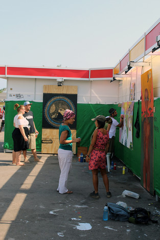 Festival gallery in the open air