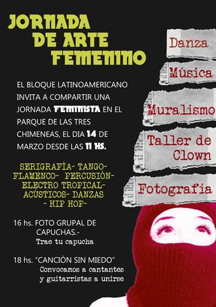 Cartel Jornada de Arte femenino