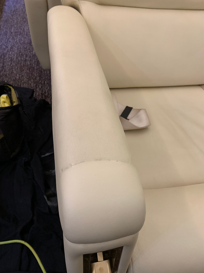 Aircraft leather repair Luton