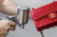 leather handbag color changing