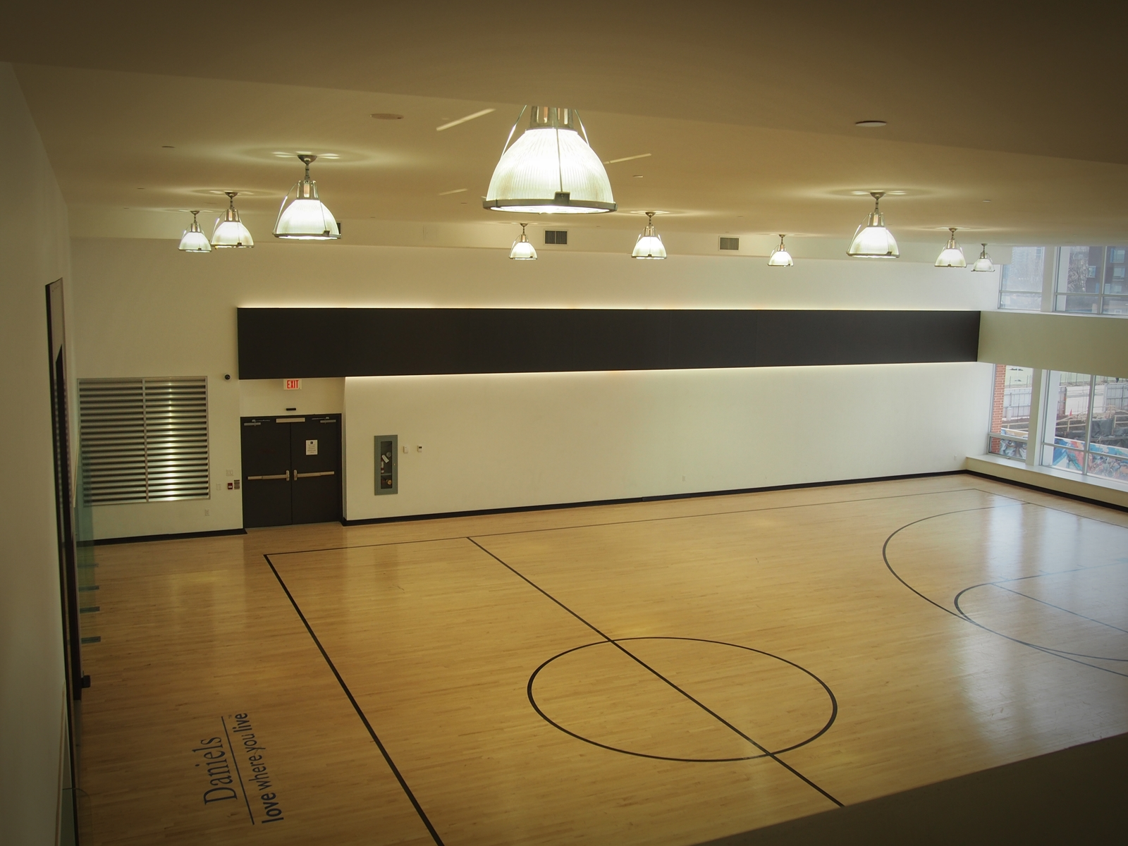 Half Basketball Court and Two Squash Courts