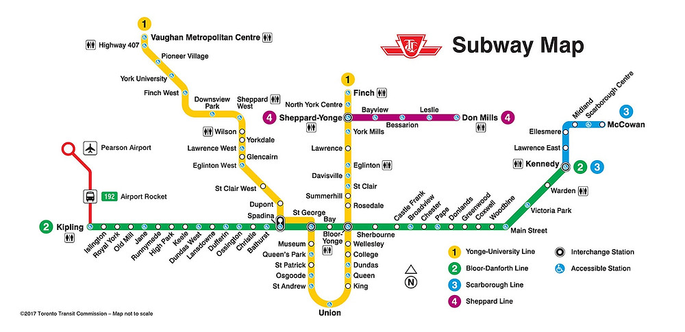Toronto TTC Subway Map