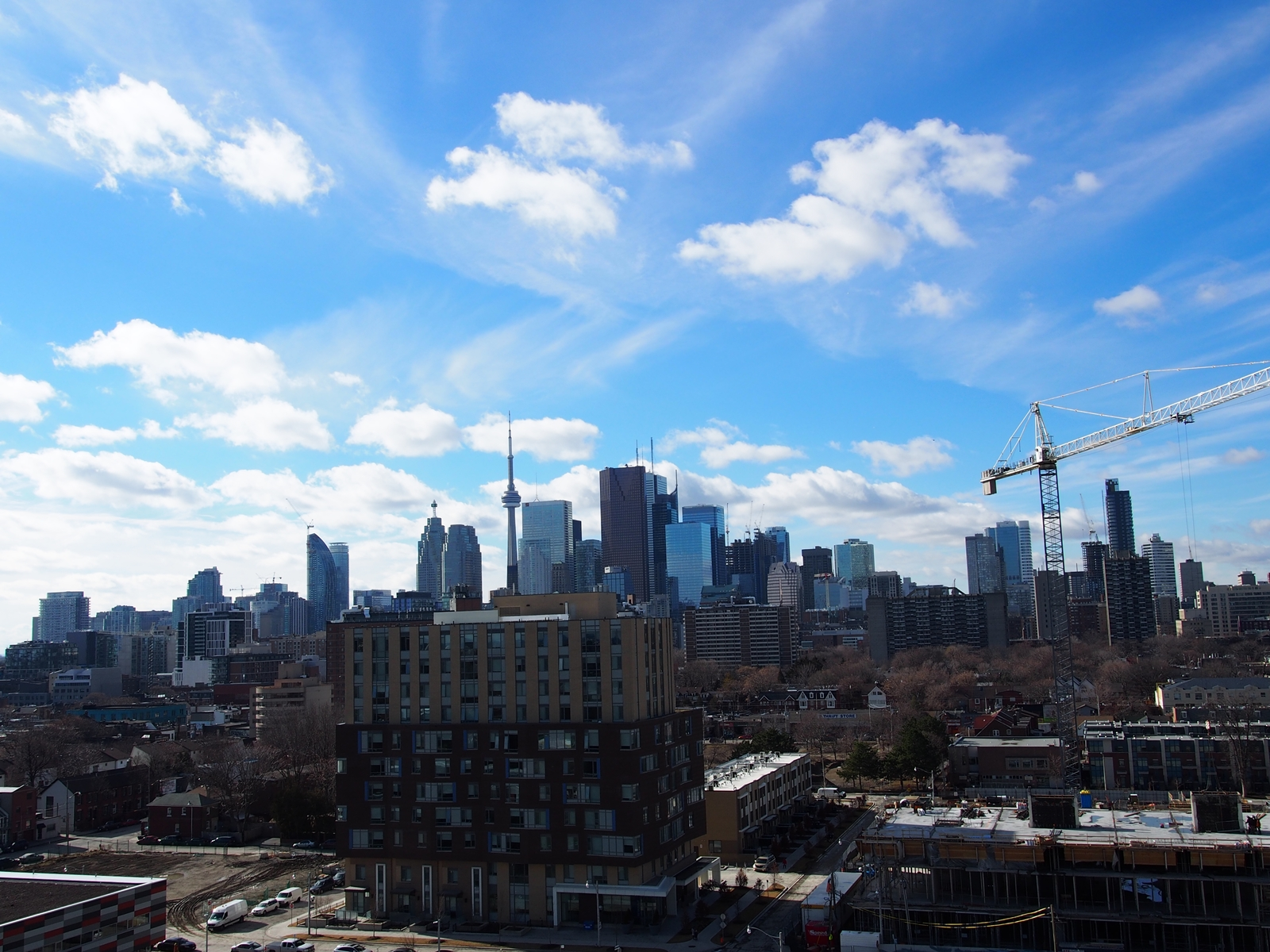 View of Toronto Skyline from One Park Place