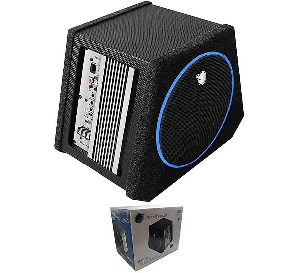 """Planet Audio PAB80 8"""" 250W Amplified Subwoofer System with Enclosure"""
