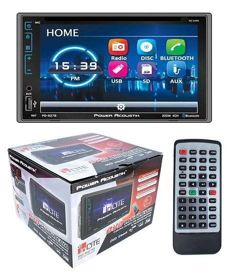 """6.2"""" Bluetooth Radio CD/DVD MP3 USB Double Din LCD Touch Screen A2DP PD-627B"""