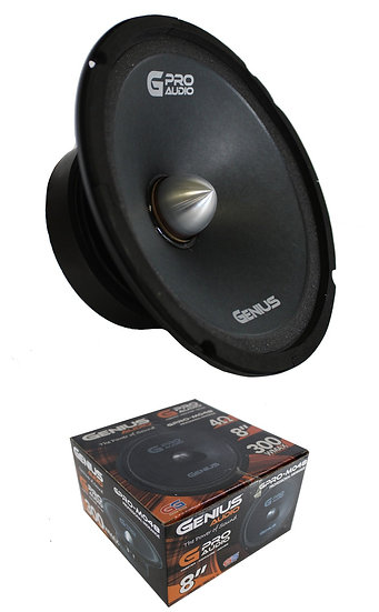 "Genius Audio GPRO-M048 8"" 300W Midrange Car Audio Speaker 4 Ohms Pro Audio"