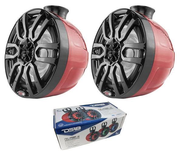 """Pair of DS18 HYDRO 6.5"""" 600W 4 Ohm Wakeboard Pod Tower Speakers NXL-PS6RD"""