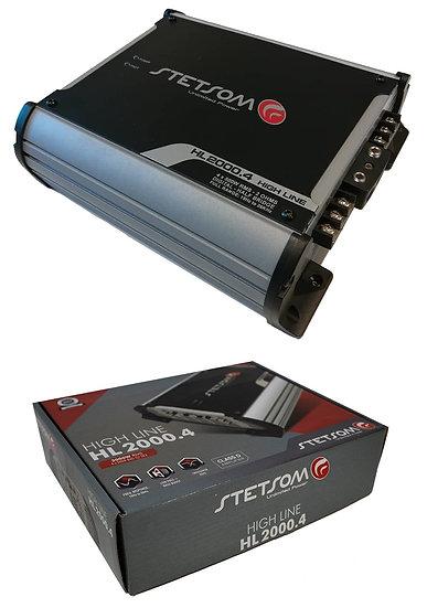 Stetsom HL2000.4 - 4 Channel Amp 2 Ohms Car Audio High Line Amplifier HL2000 2K